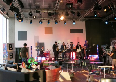 The band rehearse